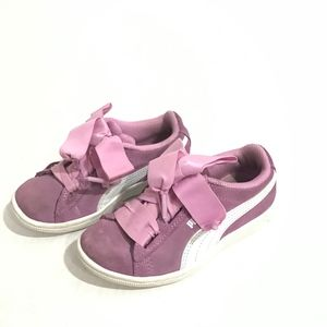 Puma girls pink sneakers size 10.5